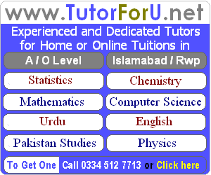 A/O Level Tutor for